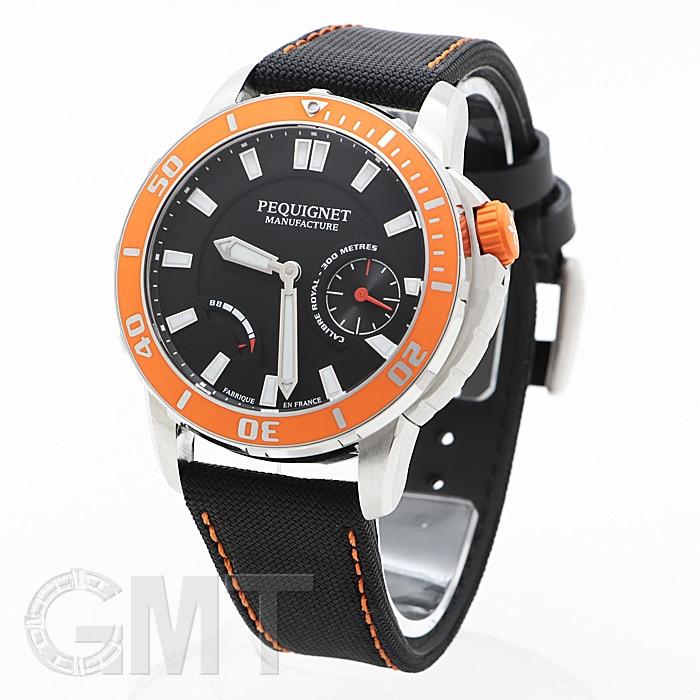ペキニエ マニュファクチュール ロワイヤル300 ブラック/オレンジベゼル 9050343/39